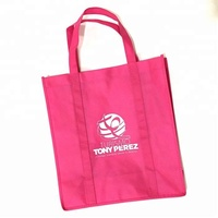 Customized High Quality Cheap gift Logo Printed Recycled Grocery Shopping Tote Handled Non Woven Bag