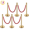 Crowd Control Red Carpet Ropes Stanchion Poles For Exhibition