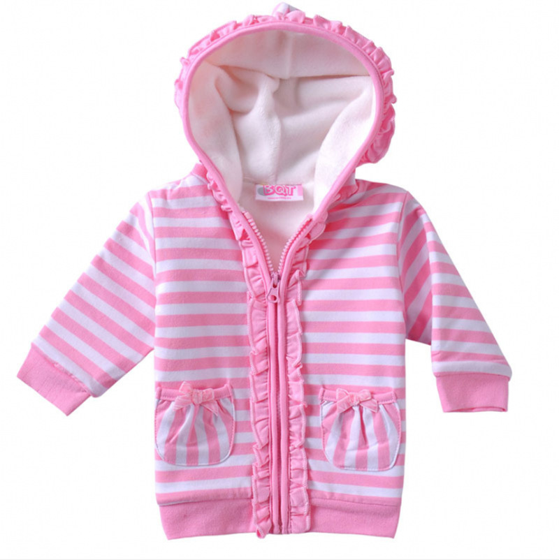 edc613149 Get Quotations · 2015 Autumn Winter Brand coat Baby girl Fashion Cute 100%  combed Cotton Coat girl's Hooded