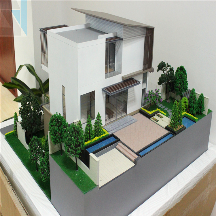 Exterior: Real Estate Model,Miniature Architecture 3d Rendering