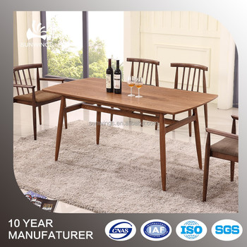 China Cheap Restaurant Furniture Wholesale Wooden Dining Table In Rectangle Shaped