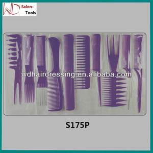 professional hair trim comb set,bulk hair combs,stretch hair comb