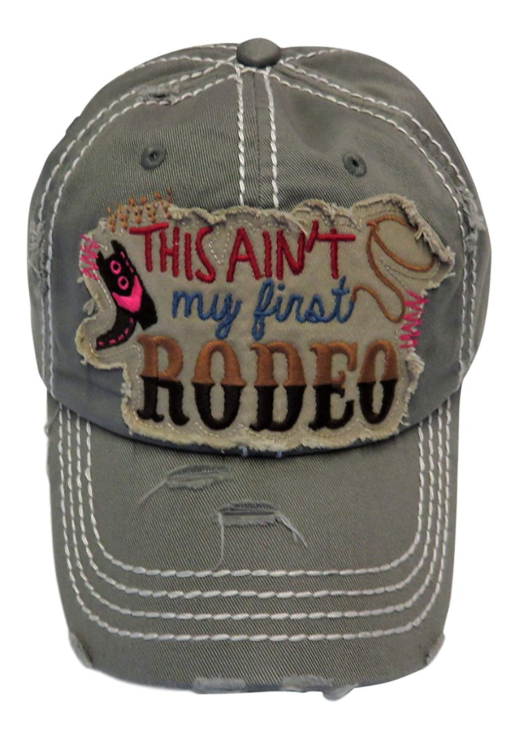63495a6b902 Get Quotations · Embroidered This Ain t My First Rodeo Patch Vintage Baseball  Cap Hat Western