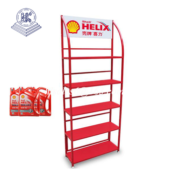 metal lubricating oil display stand rack