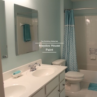 Maydos low sheen washable interior bathroom wall house paint
