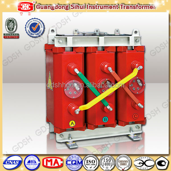 Lower Loss Less Space Needed 100kVA Dry Type Transformer