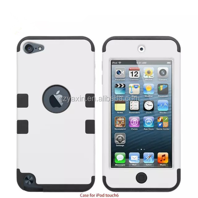 for ipod touch 6 phone case,For Apple iPod Touch 6 Case,PC+Silicon 2 in 1 case for ipod touch 6