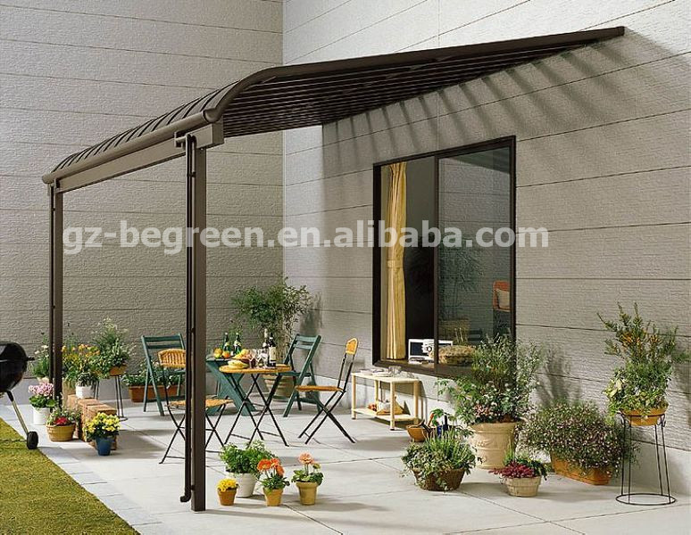 3 5 m polycarbonate toit gazebo en aluminium. Black Bedroom Furniture Sets. Home Design Ideas