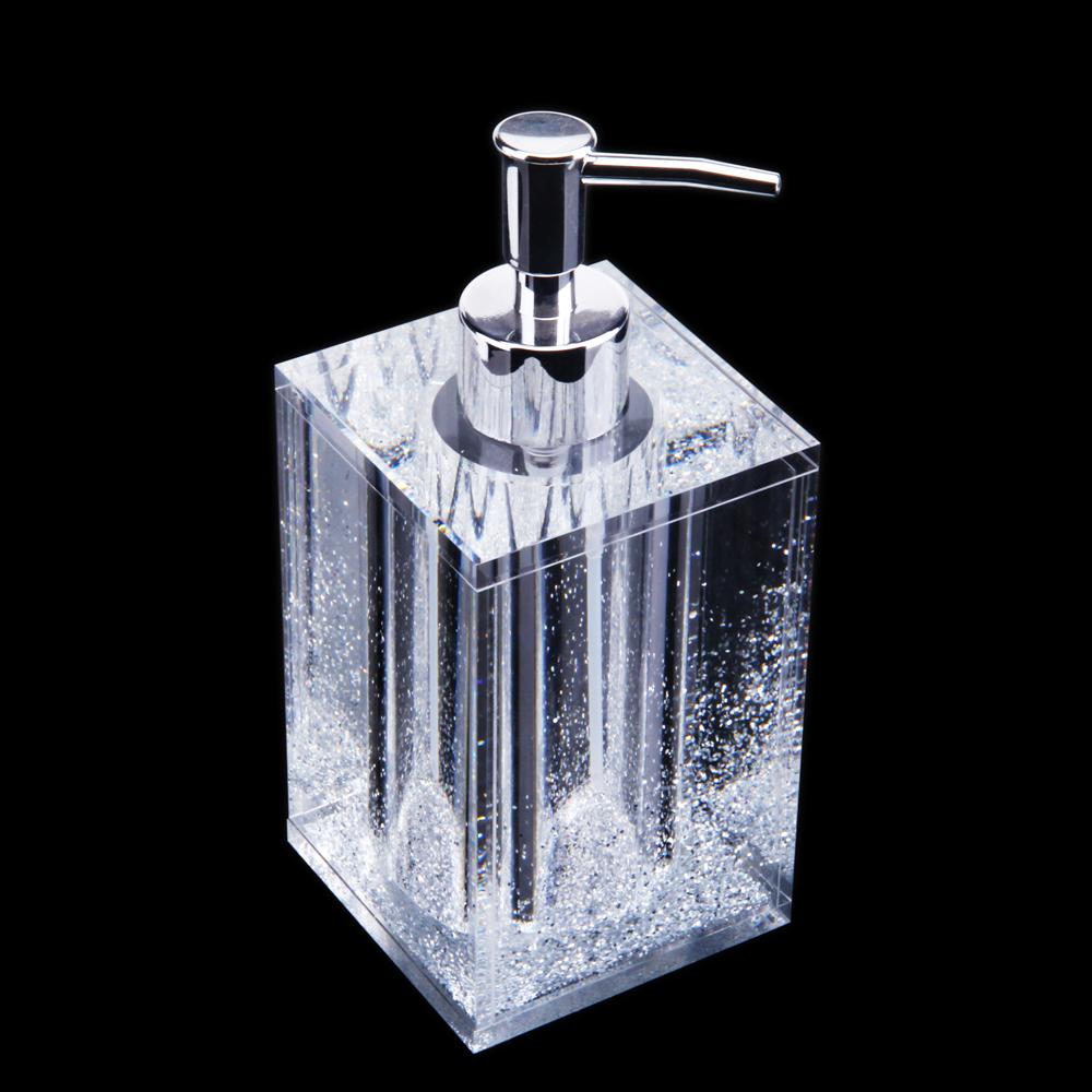 Personalizzabile Vendita Calda Acrilico Piazza Sapone Liquido Dispenser