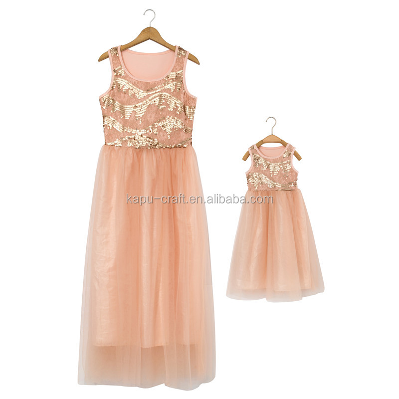100 % cotton mommy and me maxi dress baby girl party dress children frocks designs factory direct sale dress for woman