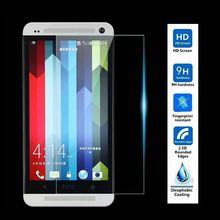High Quality 2.5D 0.3mm Premium Tempered Glass Screen Protector Toughened protective Film For HTC ONE M7 Dual Sim 802T 802D 802W