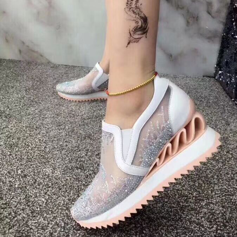 cake cool bottom flat single wild sports mesh Thick leather bottom shoes sponge tide casual 4wExUAqFB