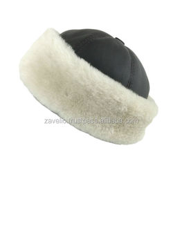889918ad9e7 Genuine Shearling Sheepskin Beine Cloche Aviator Trapper Leather Fur Hat -  Brown   Beige