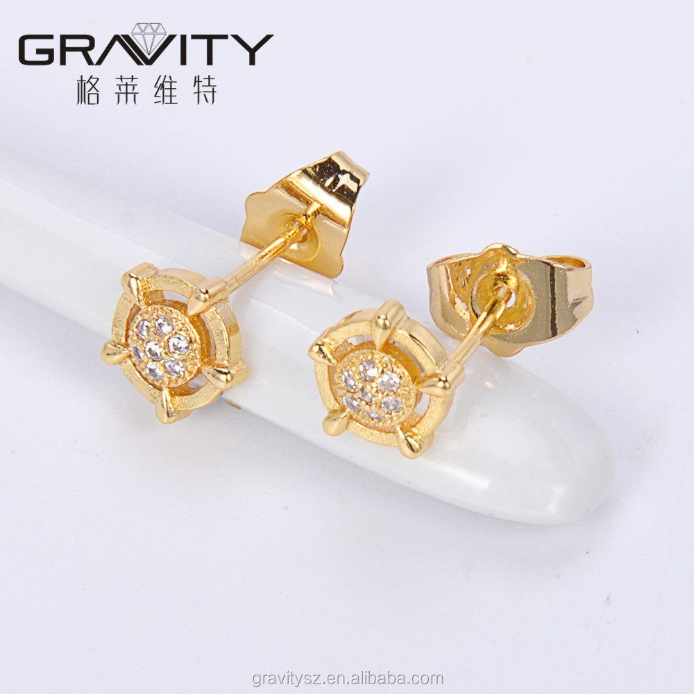 in women earrings gold earring nl with fascinating flower white jewelry stud yg yellow diamond