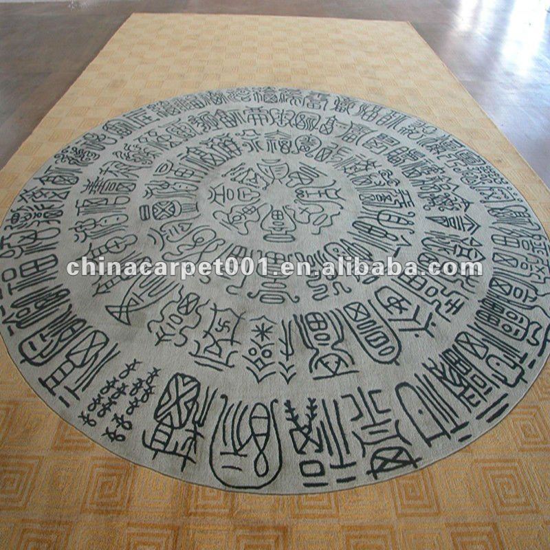 Wool Handmade Carpet Series Round Carpet 032