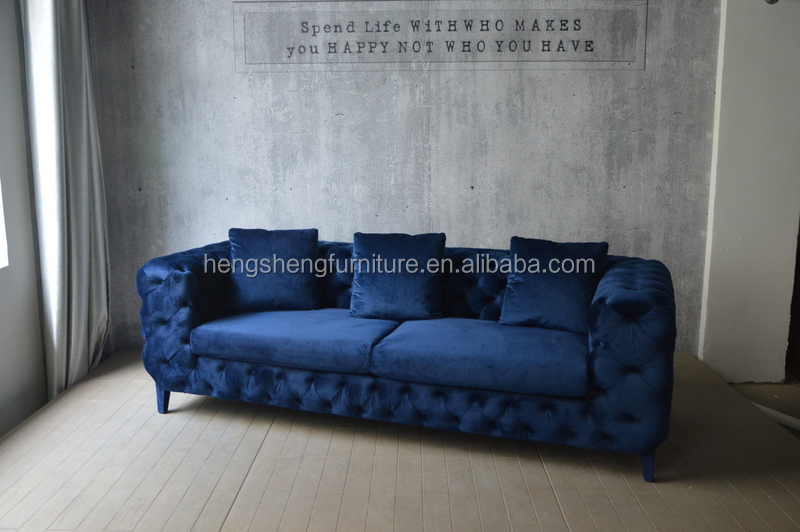 Hot Sale New Design Royal Living Velvet Sofa