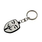craft supplies 3D face plastic soft pvc keychain