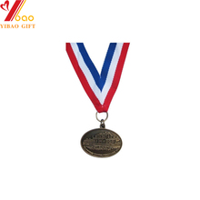 Patriotism style Customized design gold/silver metal medal 와 plated 색