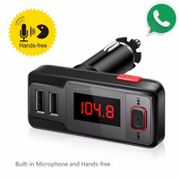 BT719S Dual USB Car MP3 Player Wireless Bluetooth FM Transmitter Remote Control Handsfree Bluetooth Car Kit