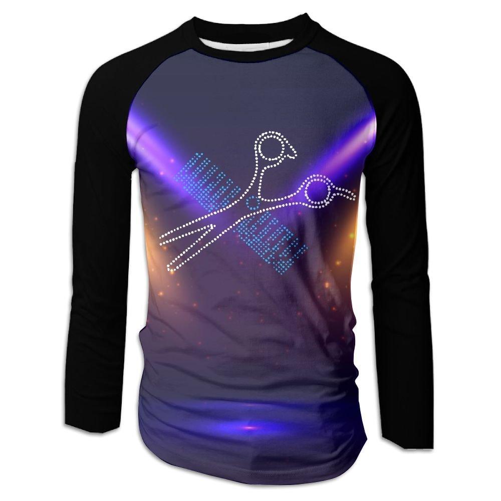 291beec84e3f9 Get Quotations · Haircut Style Stylist Men s Raglan Baseball T-Shirts Long  Sleeve Baseball Tees