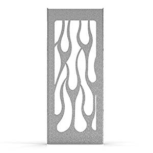 Flame Brushed Stainless Radiator Cover Grill Guard fits: 1990-1993 Suzuki VX800 - Ferreus Industries - GRL-131-02-Brushed