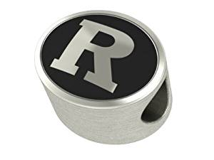 Rutgers University College Bead Fits Most Pandora Style Bracelets Including Pandora, Chamilia, Biagi, Zable, Troll and More. This High Quality Bead is Made In The U.S.A. And Is In Stock for Immediate Shipping