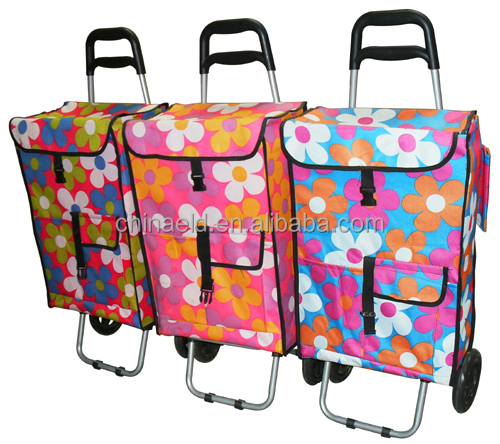 Advertising folding grocery fabric shopping cart