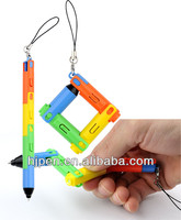 Fancy Plastic Folding Led Pen, Quality Collapsible Pen