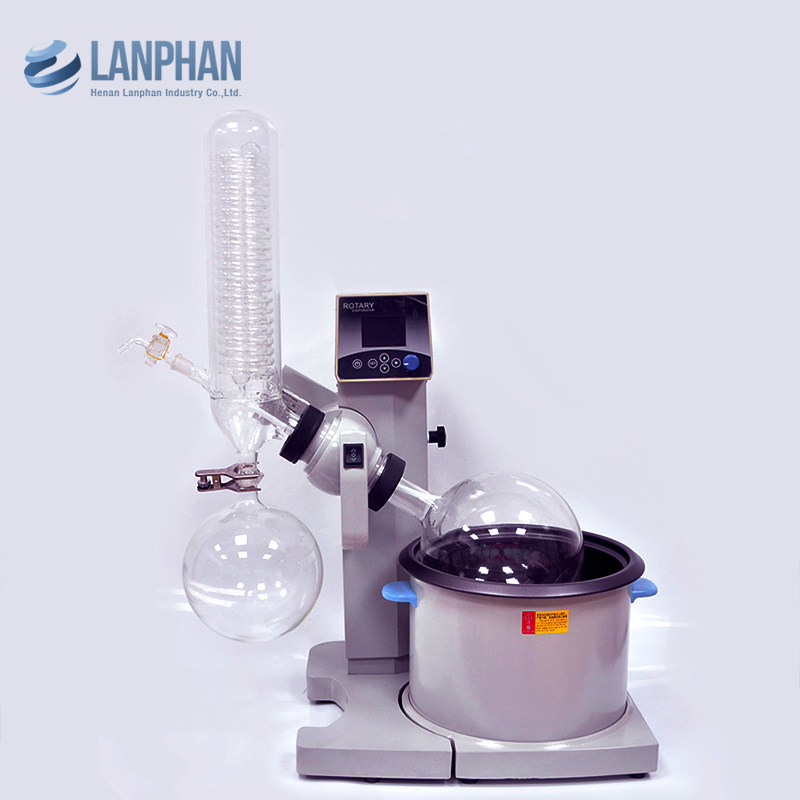 5l Mini Lab glass vacuum distillation equipment Liquid Evaporator