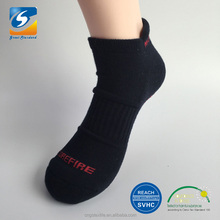 custom half terry 3d cuff cotton men ankle socks,customized logo pvc grip barre socks,grip socks