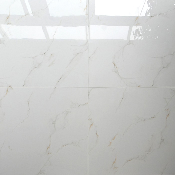 Hb6248 Floor Tiles High Quality Super White Polished Porcelain Tile