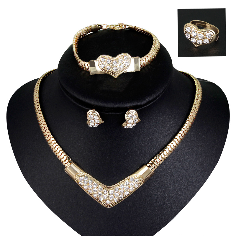 592988360518d African Jewellery Sets 18k Gold Plated Statements Necklace Earrings Set For  Women - Buy Indian Gold Plated Necklace Set,Costume Jewellery Necklace And  ...