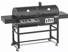 Char-Griller Duo 3-Brander (40,800-BTU) Vloeibare Propaan <span class=keywords><strong>Gas</strong></span> <span class=keywords><strong>Grill</strong></span> met Zijbrander