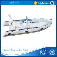 NEW CE certification 4.8meters rigid inflatable fishing boat pvc rib480 boat for sale