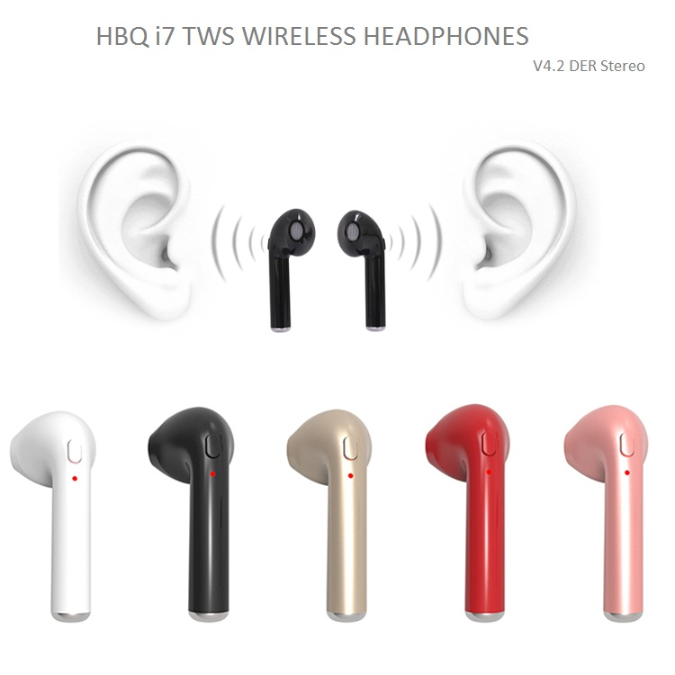 40768b8d077 Hot Selling HBQ i7 TWS Twins Wireless Headphones Mini BT V4.2 DER Stereo  Earphone Sports Business Style