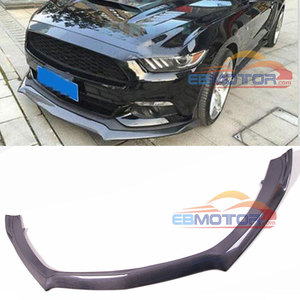 RSH Style Real Carbon Fiber Front Lip Spoiler Body Kit Addon for Ford Mustang 2015-2017 F007