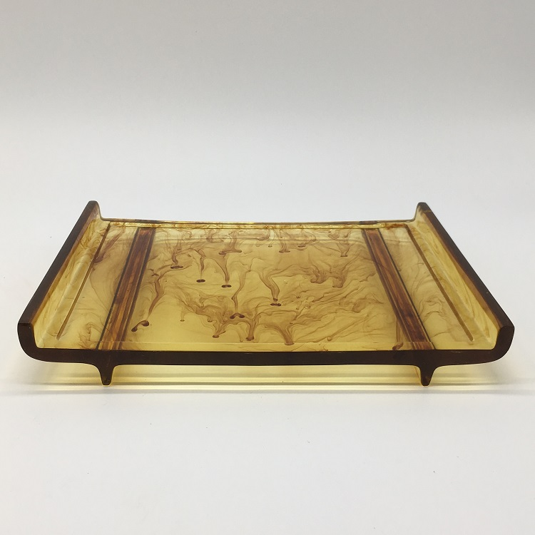Amber Gold Luxury Resin Accessory Hotel Room Tray