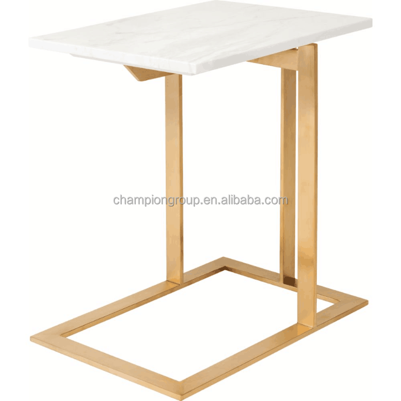 Marble Gold Base Side Tablemarble End Tablemarble Night Stand