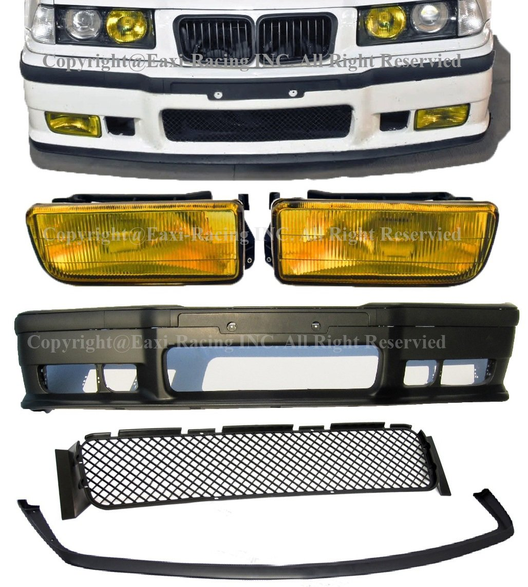 E36 Fog Lights for BMW M3 Clear Lens 3 Series 1992 1993 1994 1995 1996 1997 1998 1999 AUTOFREE Fog Lamps Replacement Assembly with H1 12V 55W Bulbs-1 Pair