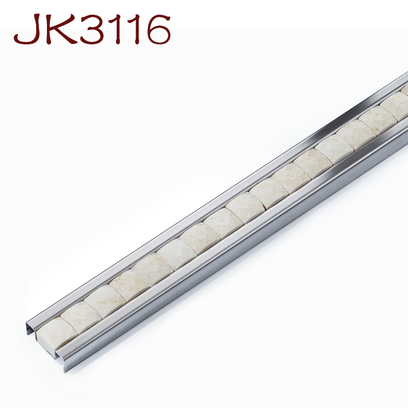 Whole Brushed Stainless Steel Wall Tile Border Decorative Edge Trim Metal Profile For Floor