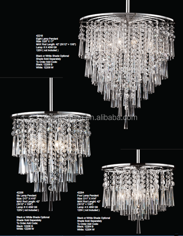 modern fancy chandelier clear crystal lamp/wholesale chandelier crystals/classic crystal chandelier