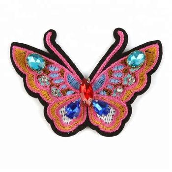 f13211452 Custom Design Sequin Embroidery Butterfly Badges - Buy Custom ...