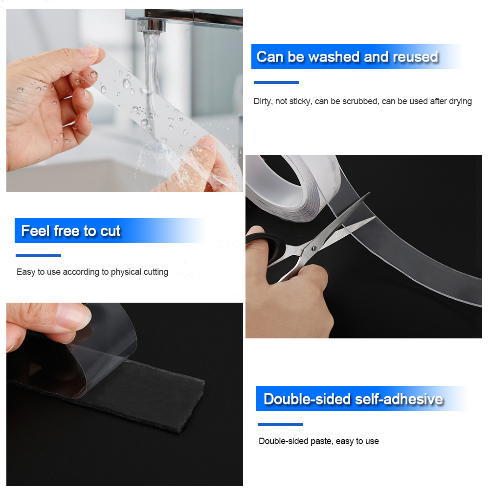 2019 hot selling multifunction strong adhesive nano magic tape for household