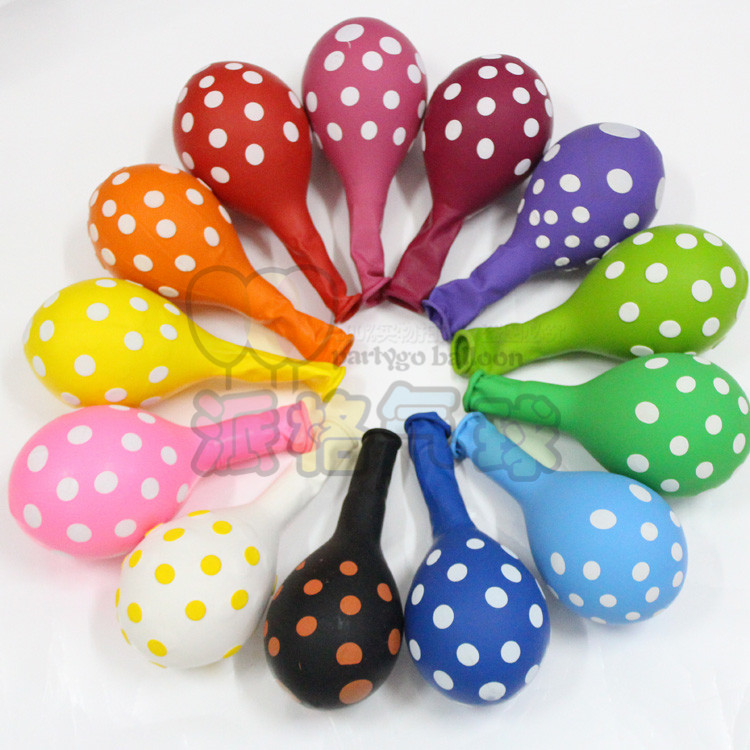 12'' 2.8g 15colors polka dots latex balloon for party decoration