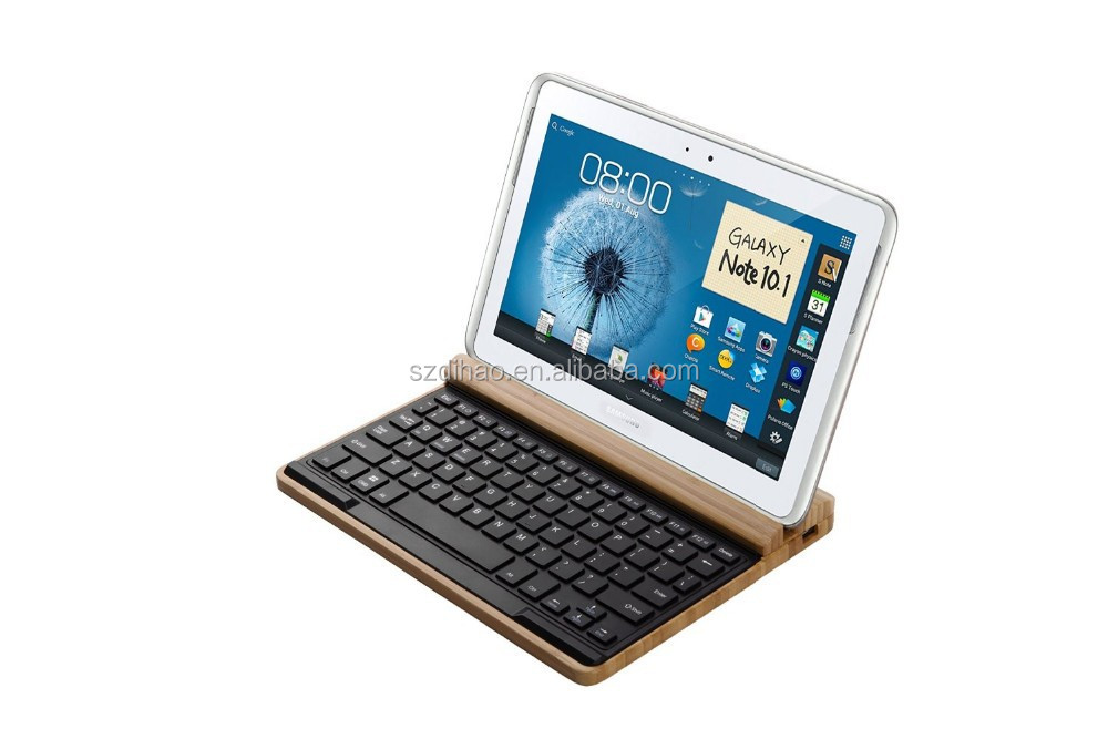 Dihao Wood Craft Bluetooth Wireless Keyboard Stand Dock Holder For ...