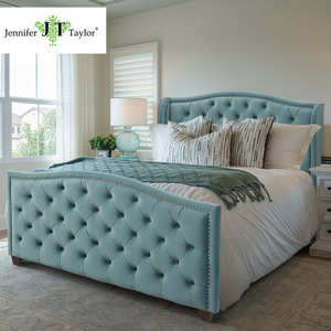 Jennifer Taylor American style modern design button tufted queen size bed