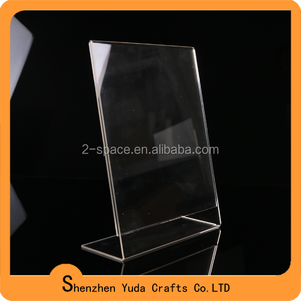 Lucite slanted desk sign holder for brochure holder
