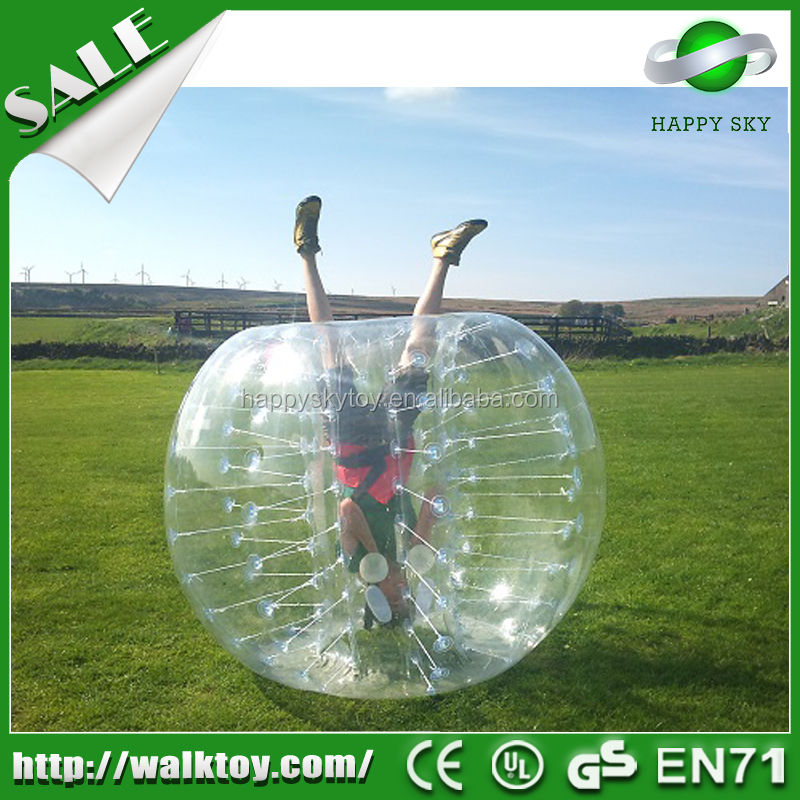 Excellent bubble football!----- PVC/TPU human bubble ball, bumper ball inflatable bal for soccer games, bubble ball for soccer