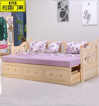 Alibaba vendita calda king size di legno divano letto cum disegni