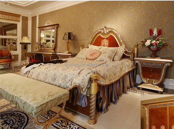 French Louis Xv Style Fantacy King Size Four Poster Bed